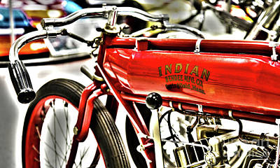Indy Car Photograph - Indy Race Car Museum Indian Motorcycle by ELITE IMAGE photography By Chad McDermott
