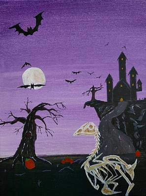 Haunted Castle Painting - Indy's Halloween Adventure by Bennie Giles