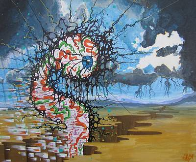 Trippy Painting - Inevitable Omnipotence by Tom Mebust