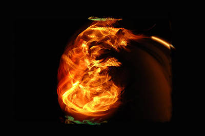 Fire Pit Photograph - Infant Flame by Donna Blackhall