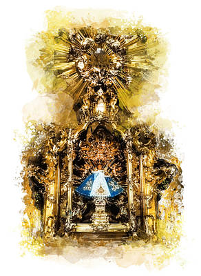 The Church Mixed Media - Infant Jesus Of Prague by Justyna JBJart