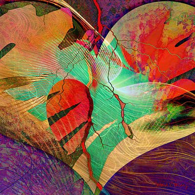 Abstract Sights Digital Art - Infatuation by Barbara Berney