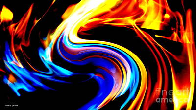 Photograph - Inferno Abstract I by Christine Zipps