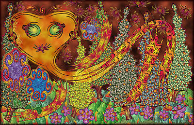 Mystifying Digital Art - Inferno by Becky Titus