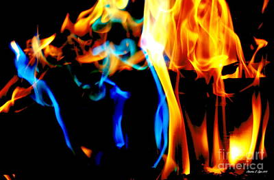 Photograph - Inferno Ix by Christine S Zipps