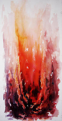 Tree Roots Painting - Inferno by Rachel Christine Nowicki