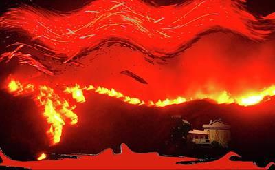 Digital Art - Inferno by Ronald Irwin