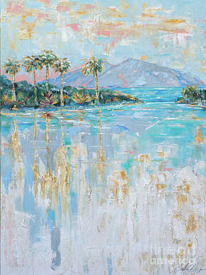 Painting - Infiinity Pool by Linda Olsen