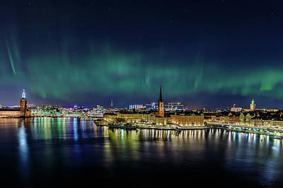 Photograph - Infinite Aurora Over Stockholm by Dejan Kostic