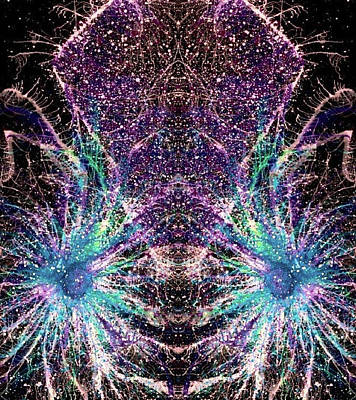 Fireworks Mixed Media - Infinite-dimensional Multiverse #1330 by Rainbow Artist Orlando L aka Kevin Orlando Lau