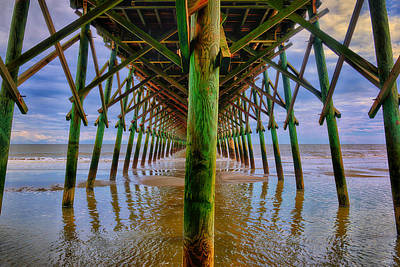 Beach Photograph - Infinite Pier by Greg Norrell