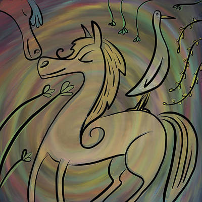 Painting - Infinite Pony Palomino by Marti McGinnis