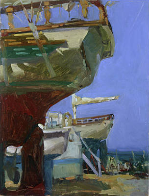 Betty Billups Wall Art - Painting - Infinity Awaiting Winter - Plein Air Catalina Island by Betty Jean Billups