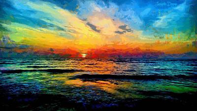 Shoreline Digital Art - Infinity Beauty - Da by Leonardo Digenio