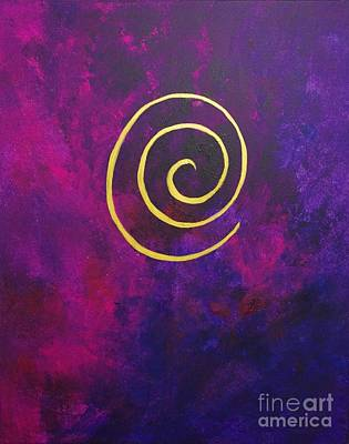 Painting - Infinity Deep Purple by Philip Bowman