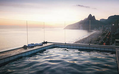 Photograph - Infinity Penthouse Pool Overlooking Ipanema Beach In Rio De Janeiro, Brazil by Alexandre Rotenberg