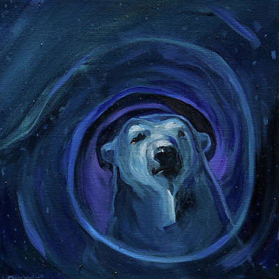 Painting - Infinity Polar Bear by Christine Montague