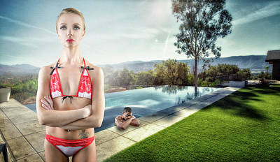 Photograph - Infinity Pool #1 by David Palmer