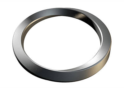 Steel Digital Art - Infinity Ring by Allan Swart