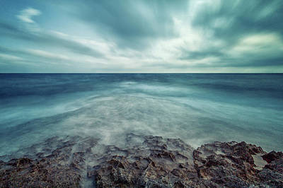 Windy Photograph - Infinity Sea by Stelios Kleanthous