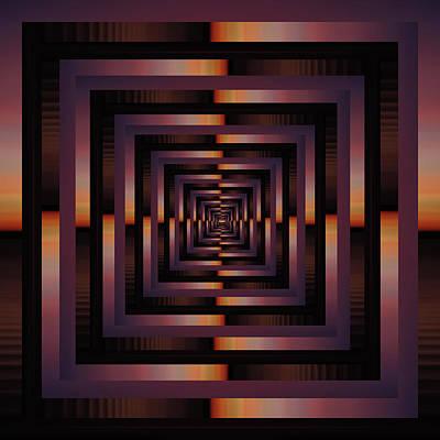 Surreal Digital Art Wall Art - Photograph - Infinity Tunnel Sunset by Pelo Blanco Photo