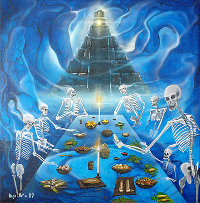 Underworld Human Painting - Inframundo  Underworld by Angel Ortiz