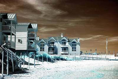 Photograph - Infrared Beach House Angles by John Rizzuto