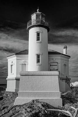 Photograph - Infrared Coquille River Lighthouse by Greg Nyquist
