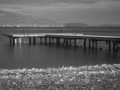 Photograph - Infrared Dock Keuka Lake by Joshua House