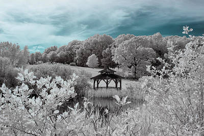 Photograph - Infrared Gazebo by Brian Hale