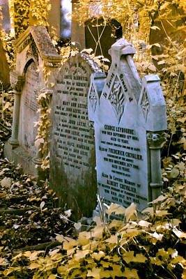 Photograph - Infrared George Leybourne And Albert Chevalier's Gravestone by Helga Novelli