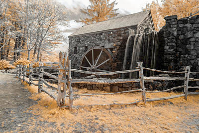Photograph - Infrared Grist Mill by Brian Hale