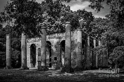 Photograph - Infrared Of Old Sheldon Church Ruins by Dale Powell