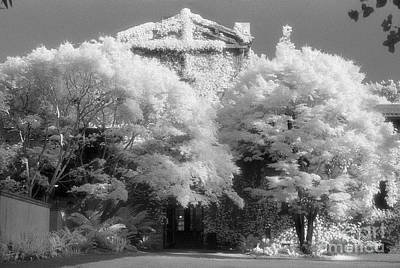 Photograph - infrared photography - Faculty Club in Infrared by Sharon Hudson