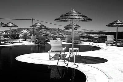Photograph - Infrared Pool Curves In Mykonos by John Rizzuto