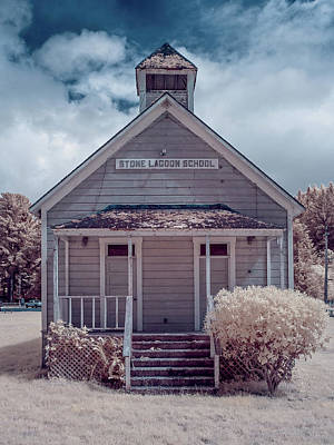 Photograph - Infrared Schoolhouse by Greg Nyquist