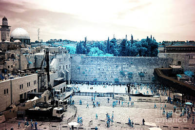 Photograph - Infrared Western Wall by John Rizzuto