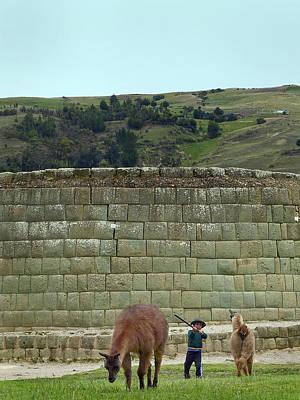 Photograph - Ingapirca Incan Ruins 111 by Jeff Brunton