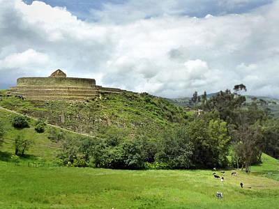 Photograph - Ingapirca Incan Ruins 128 by Jeff Brunton