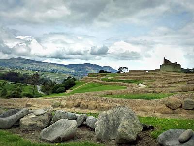 Photograph - Ingapirca Incan Ruins 49 by Jeff Brunton
