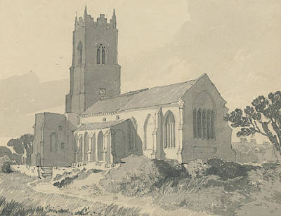 Drawing - Ingham Church, Norfolk by John Sell Cotman