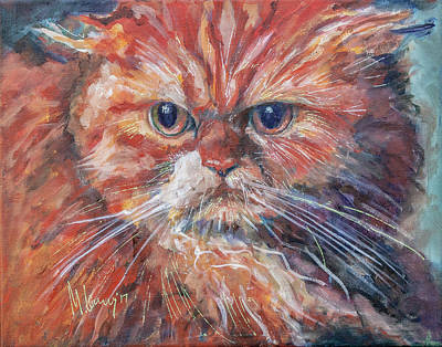 Painting - Ingin Cat by Maxim Komissarchik