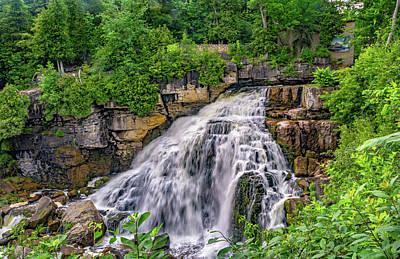 Ledge Photograph - Inglis Falls by Steve Harrington