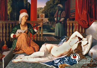 Painting - Ingres: Odalisque by Granger