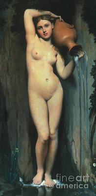 Painting - Ingres: The Spring, 1856 by Granger