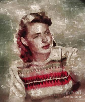 Abstract Works - Ingrid Bergman, Actress by Esoterica Art Agency
