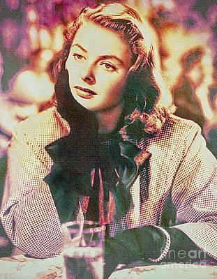 Ingrid Bergman - Movie Legend Art Print