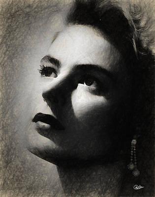 Ingrid Bergman Art Print by Quim Abella