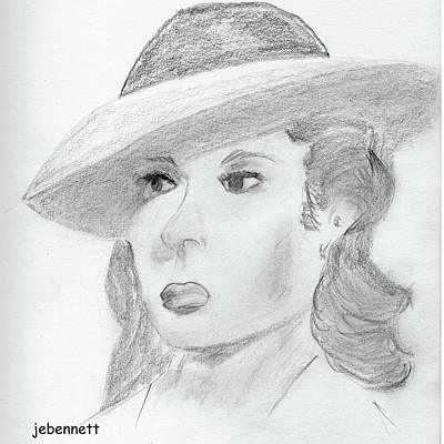 Drawing - Ingrid by John Bennett