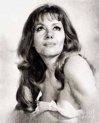 Hammer Painting - Ingrid Pitt, Vintage Actress By John Springfield by John Springfield